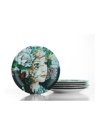 Kütahya Porselen Kadınlarım Serisi 25 Cm Servis Tabağı885182 Renkli